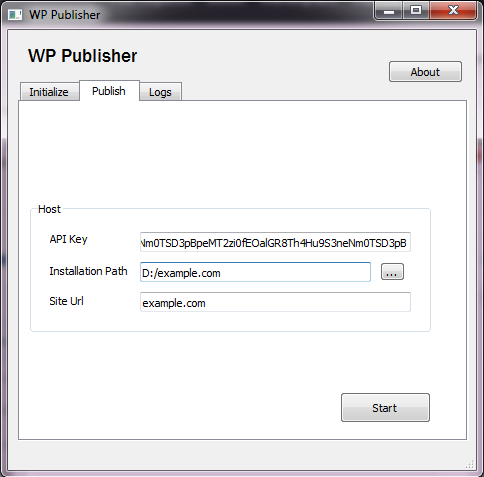 A screenshot of our bespoke software, WP Publisher