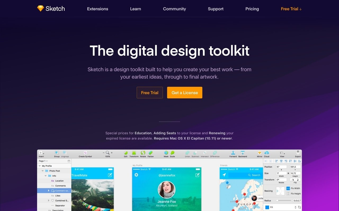 Sketch, a digital design tool, being tested in-house at Thrive