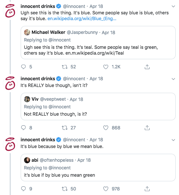 Innocent Drinks - Bolt From The Blue Social Media Campaign Comments