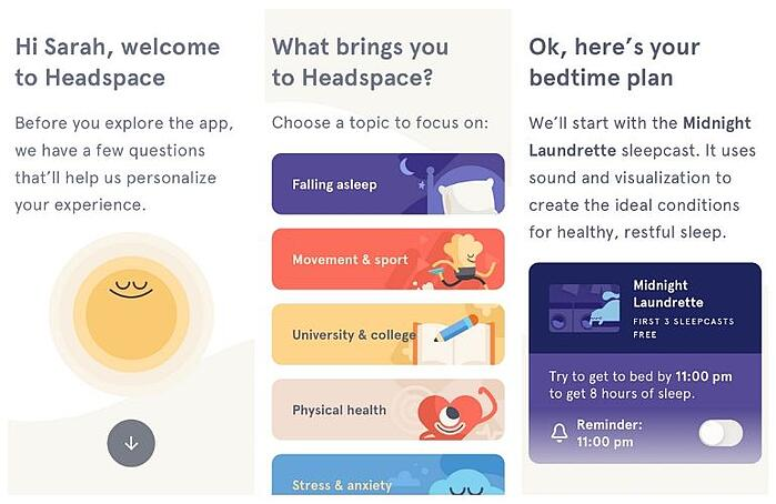 Headspace - mental health improvements