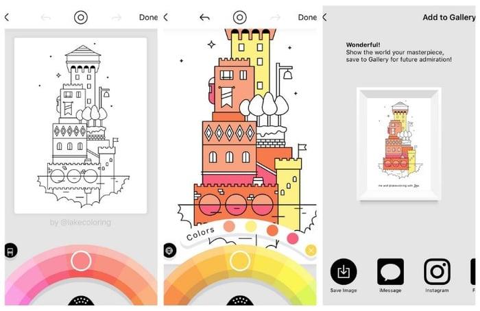 Lake - colouring app