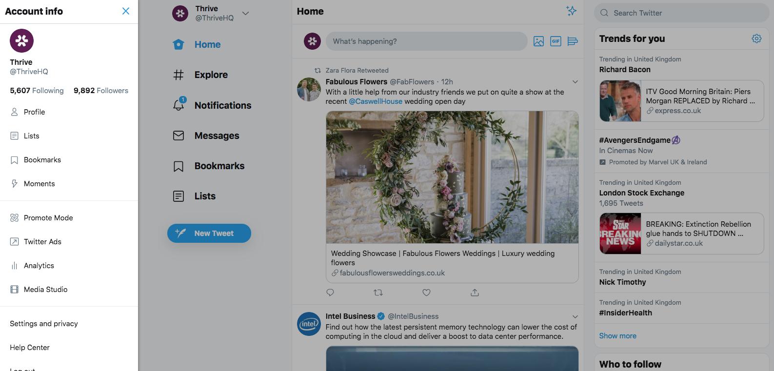 A Sneak Peek at Twitter's New Desktop Layout