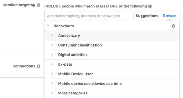 Facebook Ads Behaviours