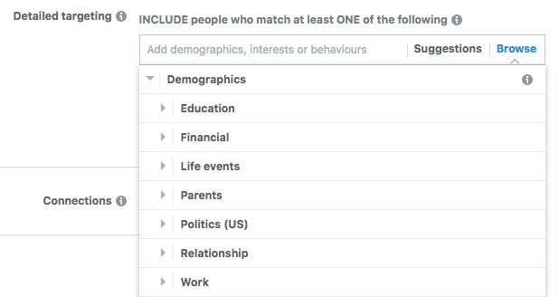 Facebook Ads Demographic Targeting