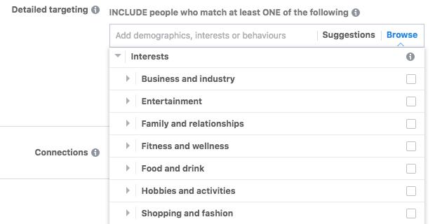 Facebook Ads Interests Targeting