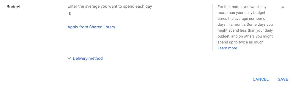 Google Ads Budget Change