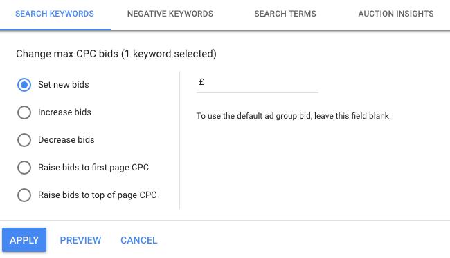 Google Ads Max CPC Bids