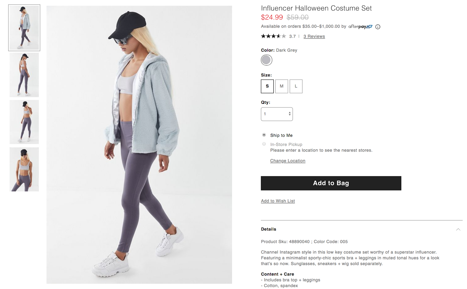 urban outfitters influence halloween outfit